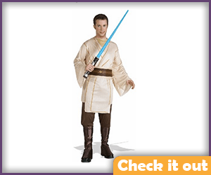 Qui-Gon Costume with accent lines.