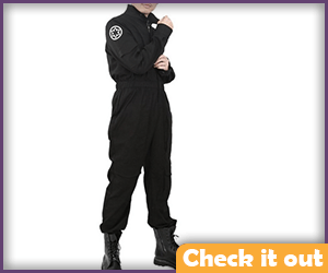 Tie Fighter Costume Jumpsuit with Imperial Emblem.