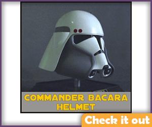 Commander Bacara Costume Helmet Prop.