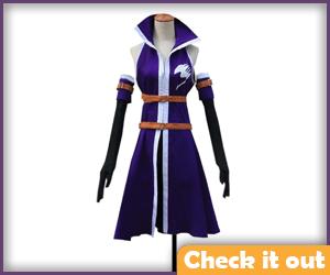 Erza Purple Battle Suit Cosplay Set.