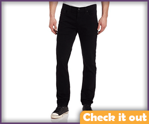 Men's Black Slim Fit Jeans.
