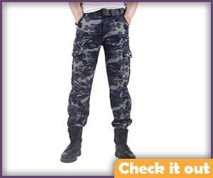 Dark Camouflage Pants.