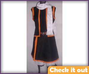 Natsu Dragneel Costume Black and Orange.