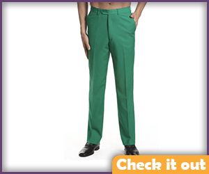 Green Suit Pants.
