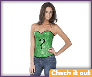 Riddler Question Mark Green Corset.