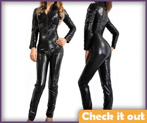 Leather Bodysuit.