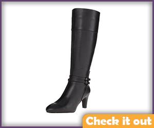 Black Low Heel Boots.