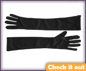 Flat Black Mid-Arm Gloves.