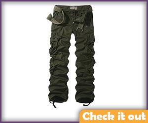 Women's Green Cargo Pants.