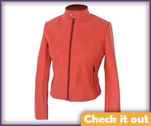 Red Leather Jacket.