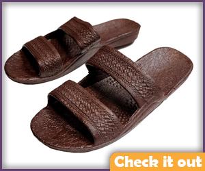Dark Brown Sandals.