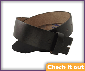 Black Leather Belt No Buckle.