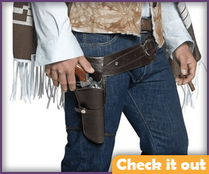 Brown Gun Holster Belt.