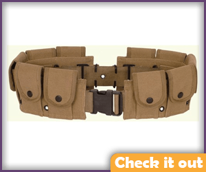 Tactical Belt with Pouches.