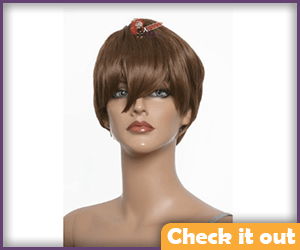 Darth Malak Female Short Brown Wig.