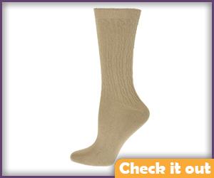 Tan Tall Socks.
