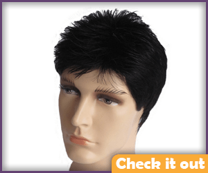 Men's Short Black Wig.
