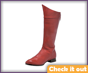 Men's Red Tall Boots.