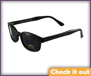 Black Biker Sunglasses.