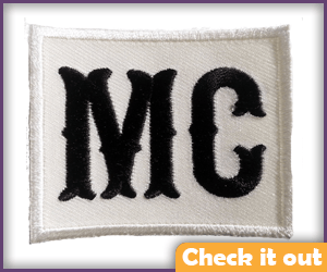 MC Motorcycle Club Patch.