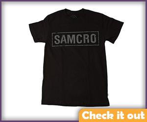 Samcro Black Tee.