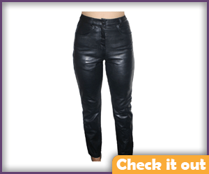 Women's Leather Pants.