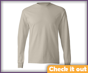 Sand Long Sleeve Shirt.