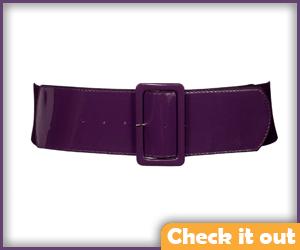 Purple Wide Waist Belt.