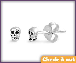 Small Skull Earrings.