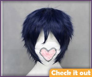 Dark Blue Short Wig.
