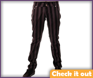 Black and Grey Striped Pants.