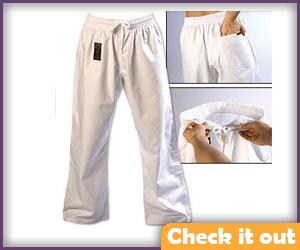White Karate Pants.