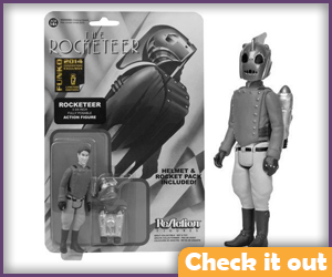 The Rocketeer Black and White ReAction Figure.