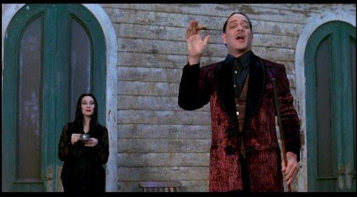 Gomez Addams Smoking Jacket Reference Image.