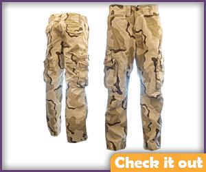 Light Color Camo Pants.
