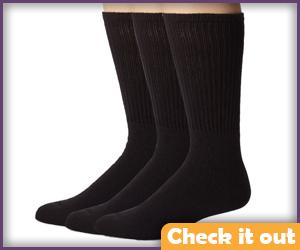 Tall Black Socks.