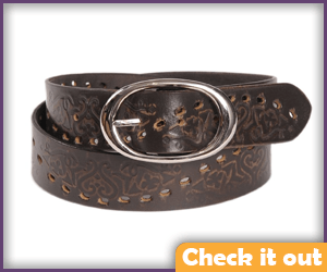 Brown Textured Belt.
