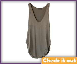 Dark Grey Loose Tank Top.