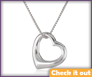Beth Greene Silver Heart Necklace.