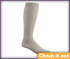 Tall Oatmeal Color Socks.