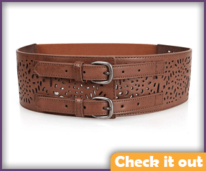 Wide Brown Belt.