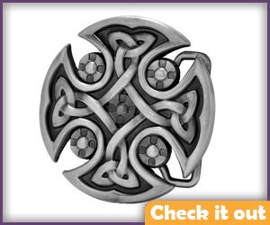 Celtic Cross Belt Buckle.
