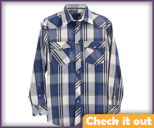 Carl Grimes Costume Blue Plaid Shirt.