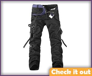 Off-Black Cargo Pants.