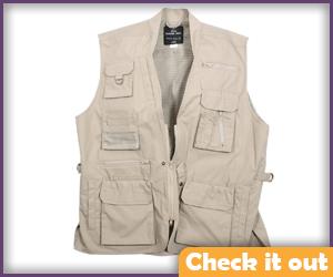 Khaki Fishing Vest.