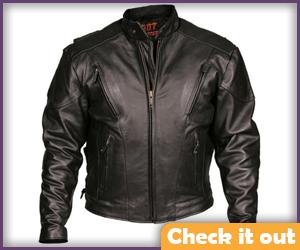 Black Side Lace-Up Biker Jacket.