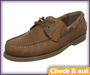 Tan Boat Shoes.