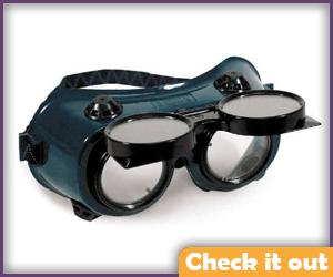 Flip-Front Goggles.