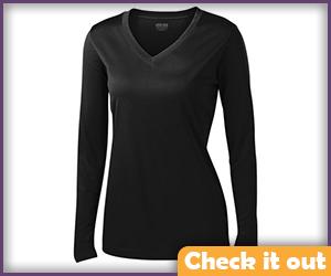 Black Long Sleeve Base Shirt.