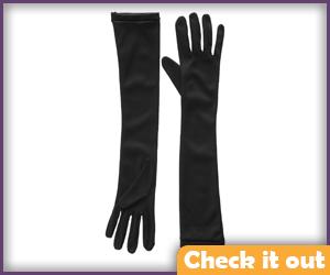 Black Elbow Gloves.
